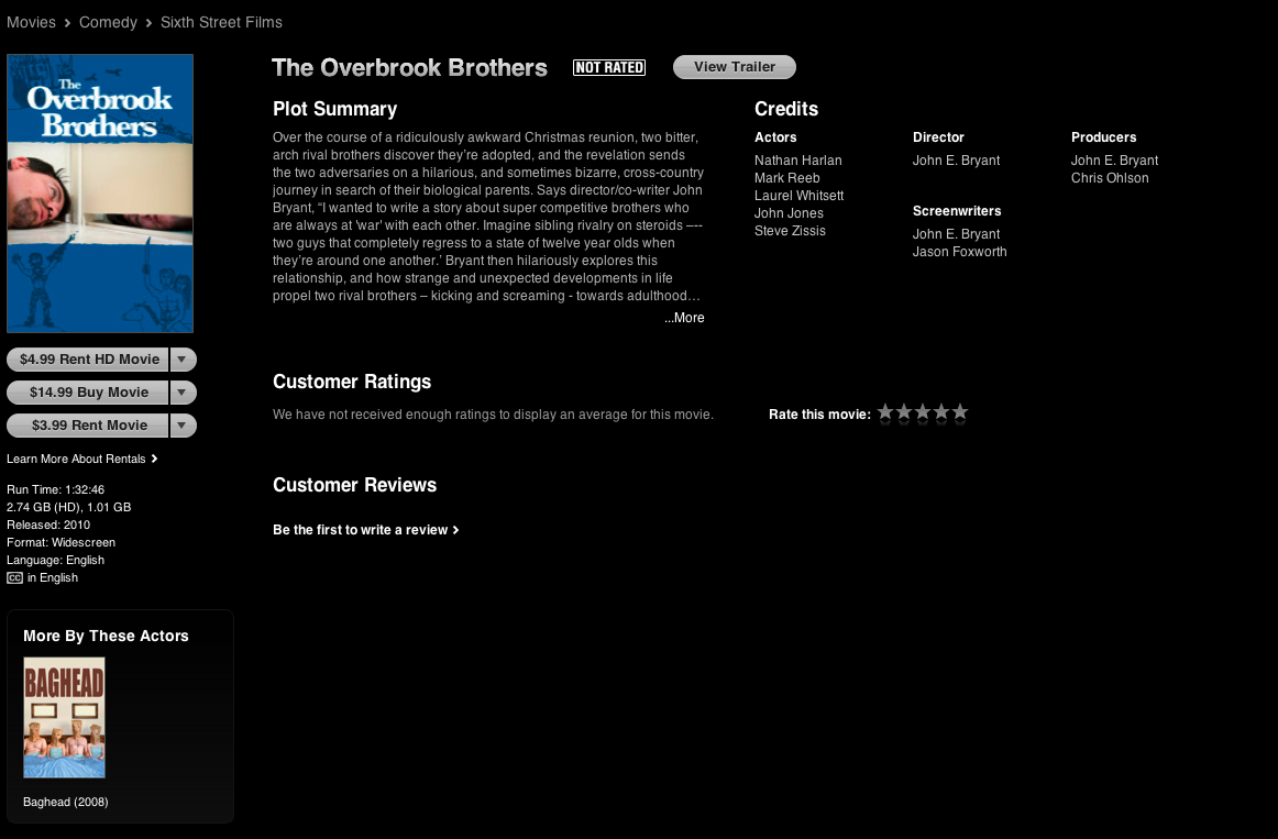 The Overbrook Brothers iTunes